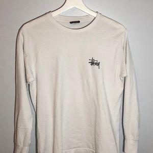 White Stussy Long Sleeved Shirt